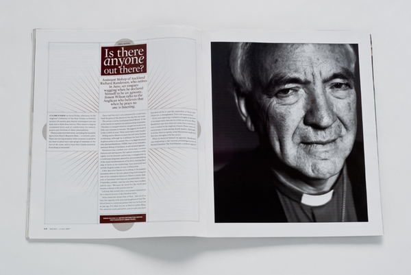 METRO MAGAZINE-BISHOP OF AUCKLAND-RICHARD RANDERSON