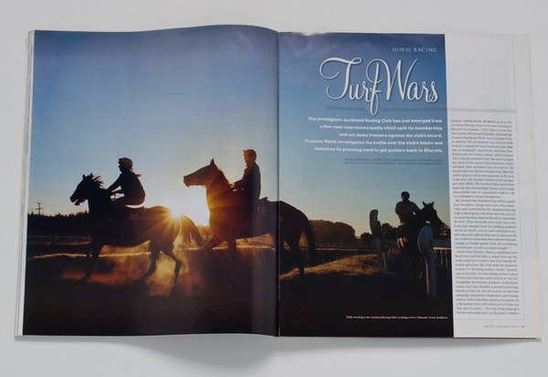 METRO MAGAZINE-FEATURE ON HORSE RACING