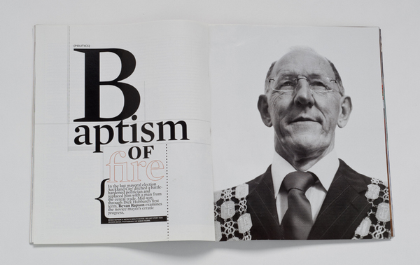 METRO MAGAZINE-DICK HUBBARD-FORMER MAYOR OF AUCKLAND