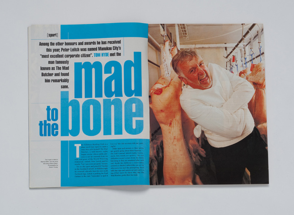 "METRO MAGAZINE-SIR PETER LEITCH-""THE MAD BUTCHER"""